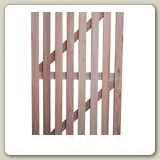 Meranti Slatted Gate