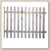 Pine Picket Fencing